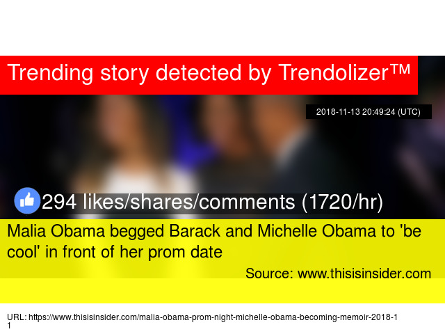 a13f66ae3b7 Malia Obama begged Barack and Michelle Obama to   039 be cool  039  in front  of her prom date