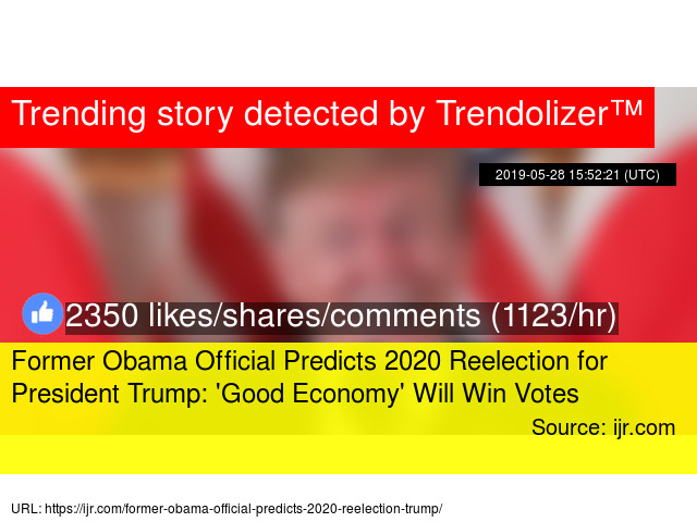 Former Obama Official Predicts 2020 Reelection for President