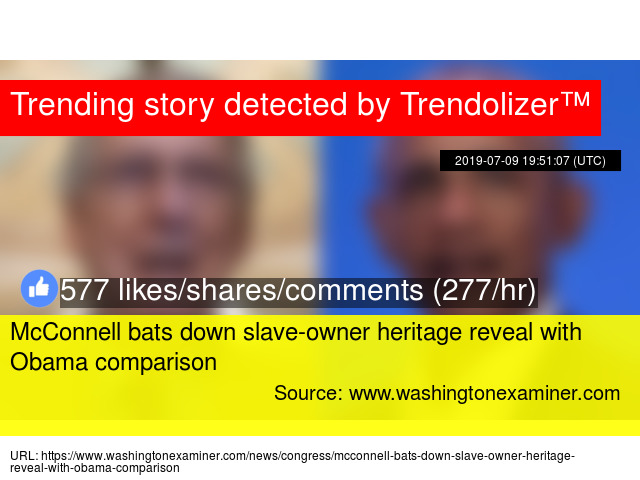 McConnell bats down slave-owner heritage reveal with Obama