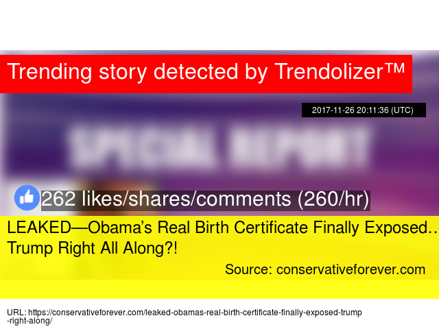 Leakedobamas Real Birth Certificate Finally Exposed Trump Right