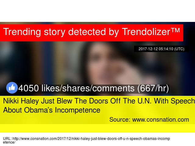 Nikki Haley Just Blew The Doors Off The U.N. With Speech About Obama\u0027s Incompetence - Stats  sc 1 st  Obama - Trendolizer & Nikki Haley Just Blew The Doors Off The U.N. With Speech About ...